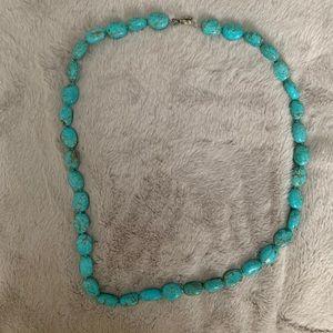 Genuine Turquoise Beaded Necklace 🐬